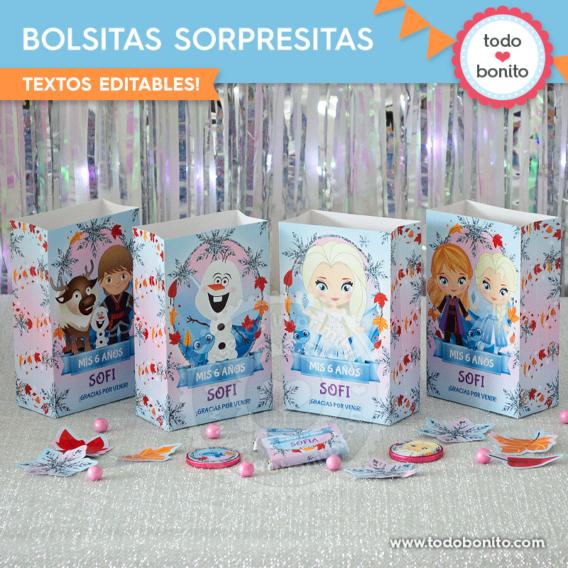 Bolsitas Frozen 2 todos los personajes