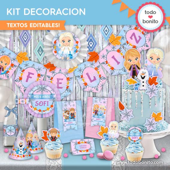 Kit Imprimible Frozen 2