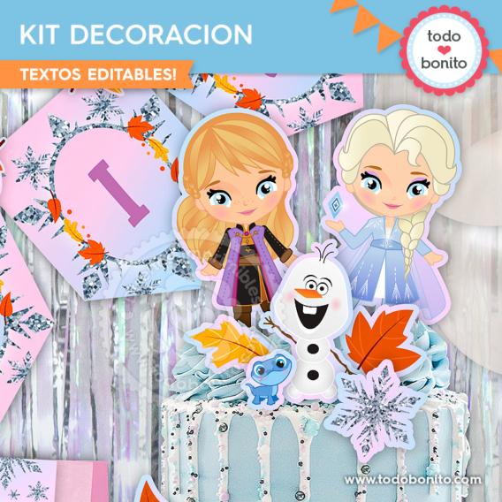 Kit Imprimible Frozen 2 imagenes para la torta