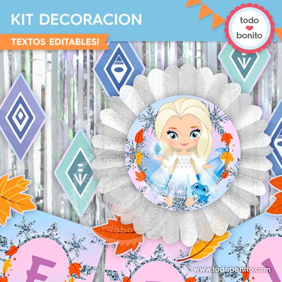 Kit Imprimible Frozen Elsa con elementos