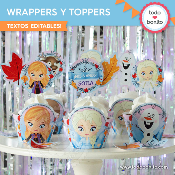 Wrappers y Toppers Frozen 2