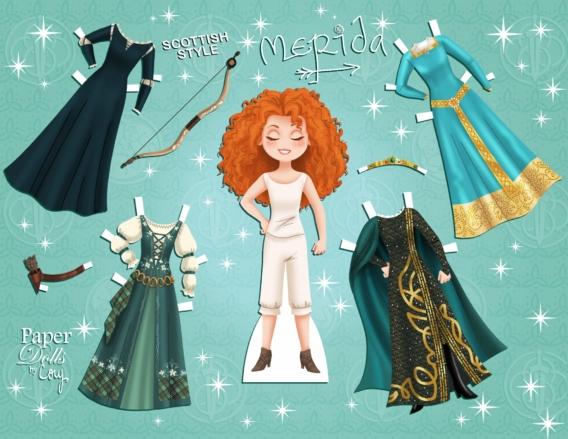 Merida: Muñeca de papel para imprimir y vestir gratis