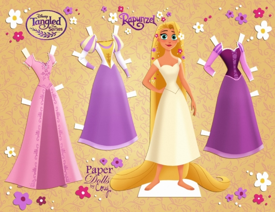 Rapunzel: Muñeca de papel para imprimir y vestir gratis