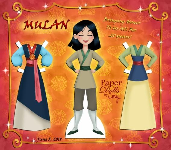 Mulán: Muñeca de papel para imprimir y vestir gratis