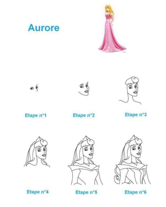 Aprende a dibujar a Aurora en simples pasos