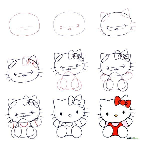 Dibuja a Kitty en simples pasos