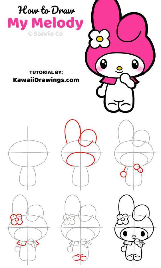 Como dibujar a My Melody