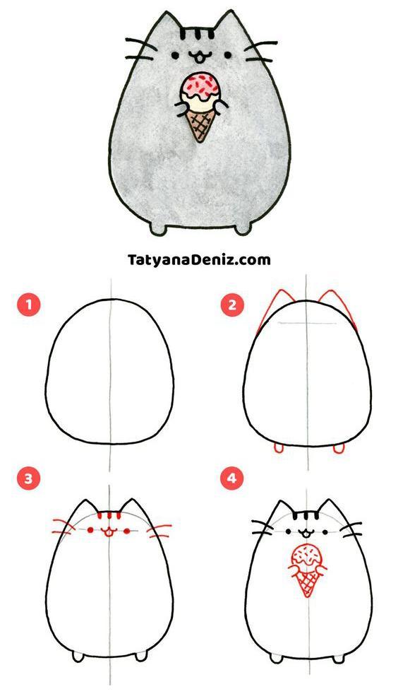 Como dibujar a Pusheen Cat