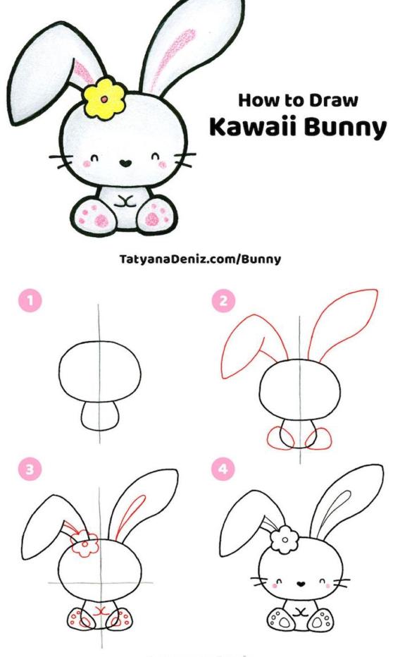 Paso a paso para dibujar un conejito Kawaii