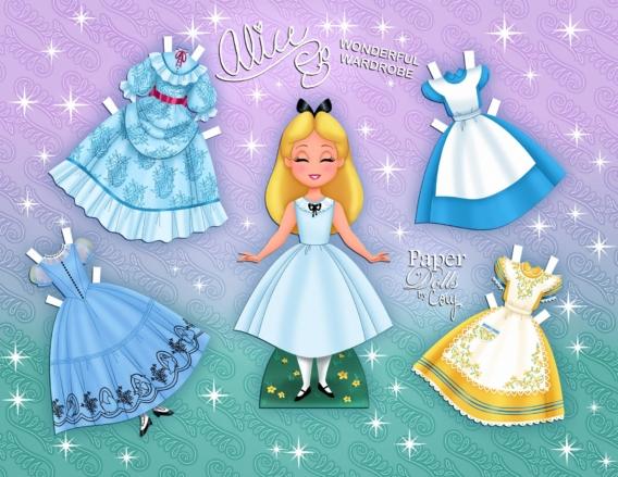 Alicia: Muñeca de papel para imprimir y vestir gratis
