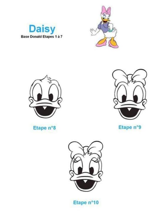 Paso a paso para dibujar a Daisy