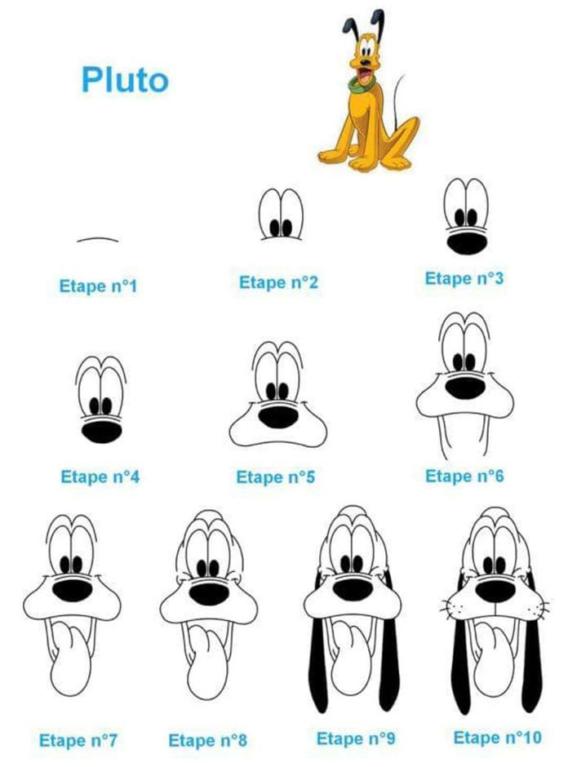 Dibujar a Pluto en simples pasos