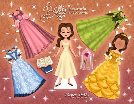 Bella: Muñeca de papel para imprimir y vestir gratis