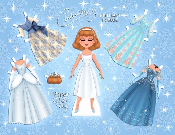 Cenicienta: Muñeca de papel para imprimir y vestir gratis
