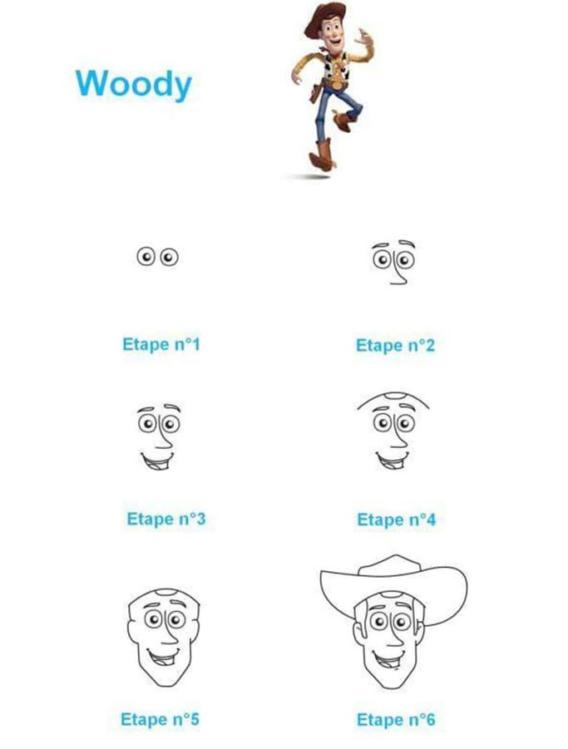 Como dibujar a Woody