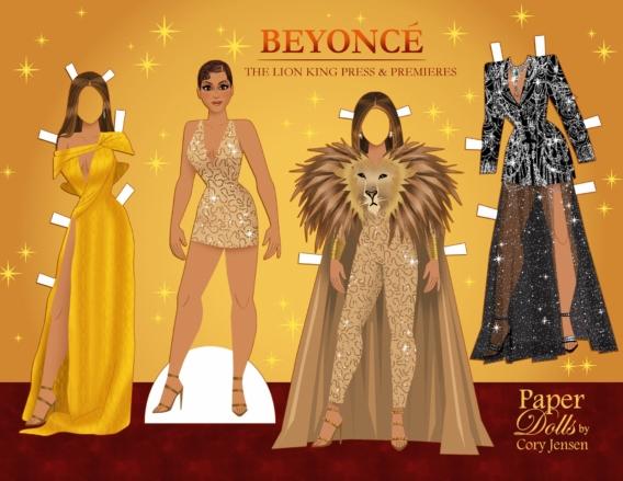 Beyoncé: Muñeca de papel para imprimir y vestir gratis