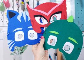 Máscaras de Héroes en Pijamas paso a paso