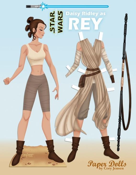 Rey de Star Wars: Muñeca de papel para imprimir y vestir gratis
