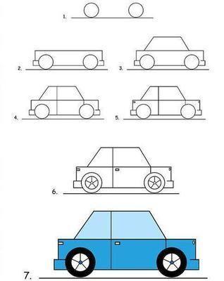 Como dibujar un auto en pocos pasos