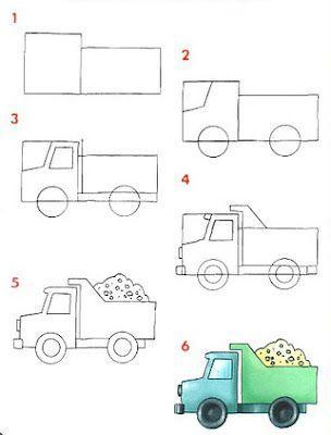Como dibujar un camión en pocos pasos