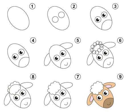 Como dibujar una ovejita
