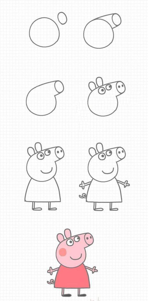 Dibujar Peppa Pig en pocos pasos