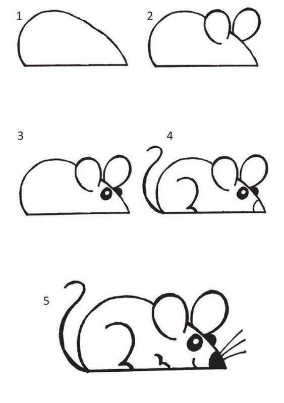 Como dibujar un ratón en pocos pasos
