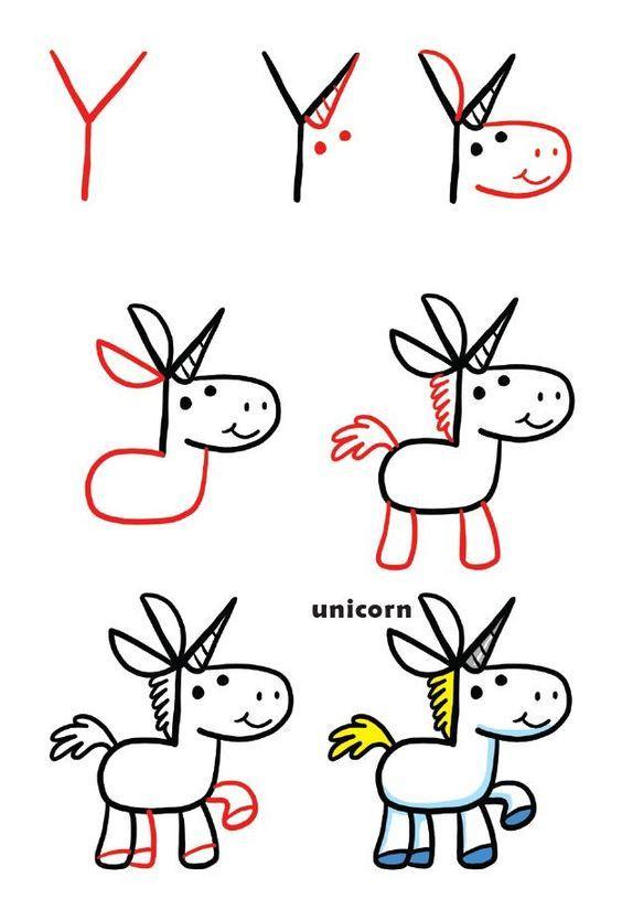 Aprende a dibujar un unicornio con estos simples pasos