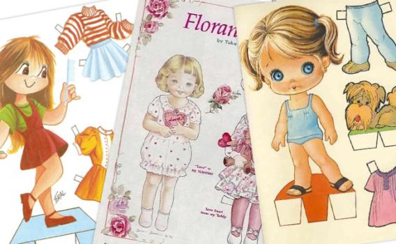 Muñecas antiguas de papel para vestir gratis Parte 2
