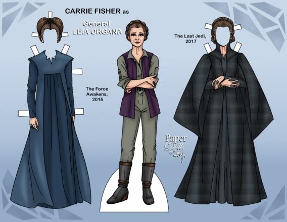 Leia: Muñeca de papel para imprimir y vestir gratis