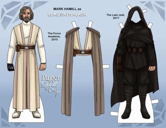 Luke: Muñeco de papel para imprimir y vestir gratis
