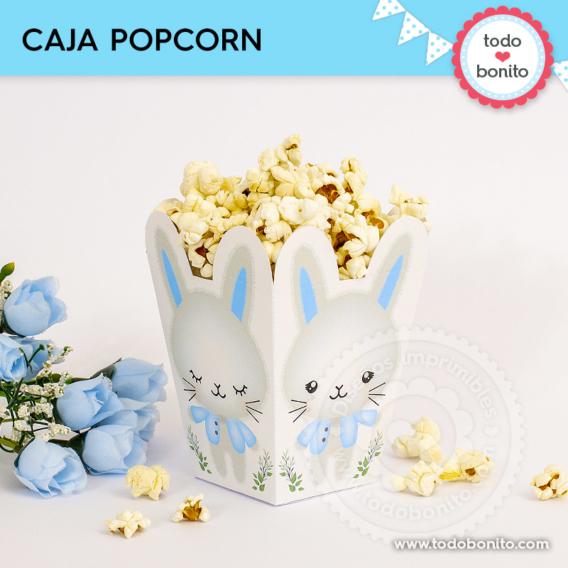 Cajita popcorn de conejito para imprimir