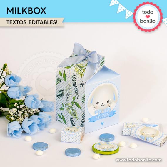 Milkbox de conejito para imprimir