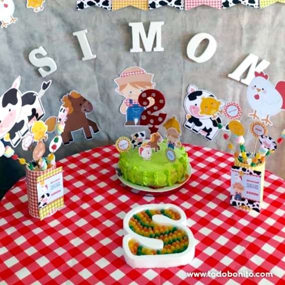Ideas fiesta granja niños