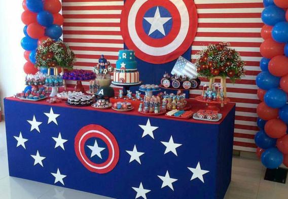 Ideas para una fiesta del Capitán América