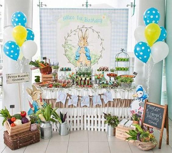 Ideas de decoración de fiesta con conejitos
