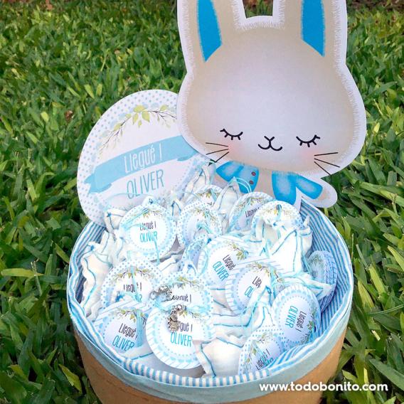 Kit imprimible de conejitos para nacimiento