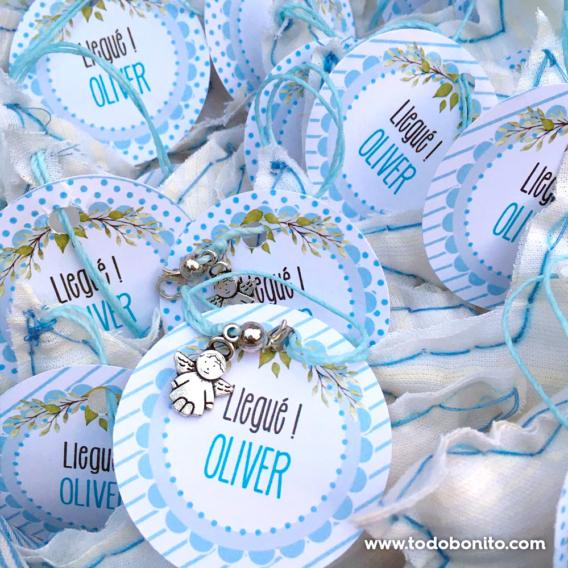 Kit imprimible de conejitos para souvenirs de nacimiento