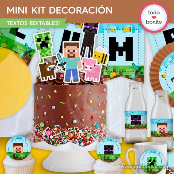 Kit decoración de Minecraft