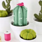 Porta alfileres forma de cactus paso a paso