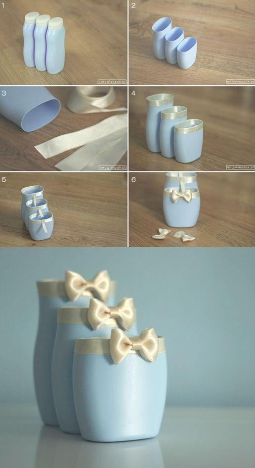 Portalápices con plástico reciclado