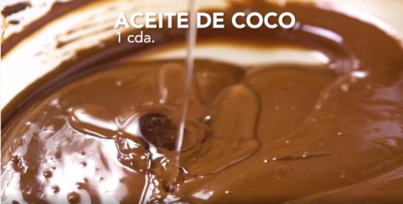 Receta de barra de chocolate y coco