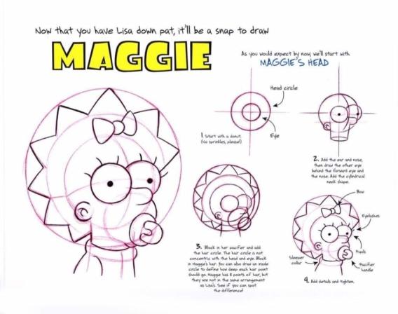 Cómo dibujar a Maggie Simpson