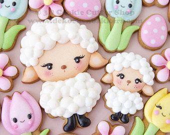 Galletas de ovejas para niña