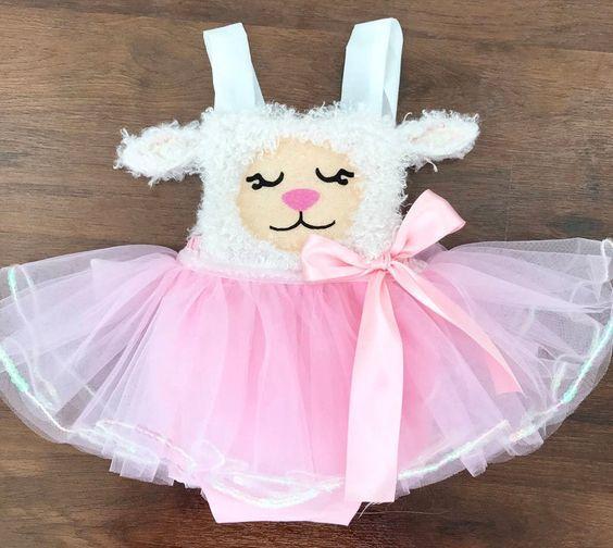 Conjunto de ropa de ovejas para niña