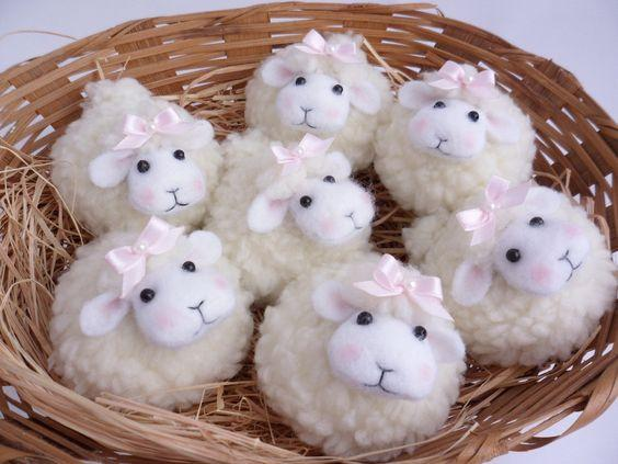 Decoración de ovejas para niña