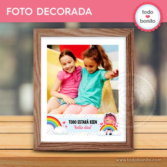 """Foto decorada Nina """"Todo estará bien"""""""