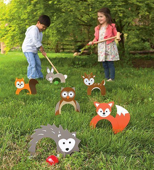 Minigolf en el patio