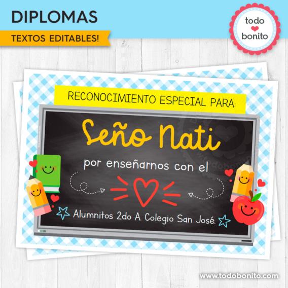 Diplomas día del maestro