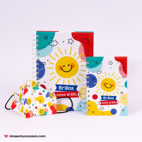 Promo papelería + cubrebocas día del niño